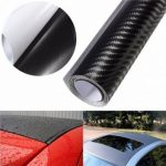 "3D Carbon Fiber Vinyl Car Wrap Sheet Roll Film Sticker Decal DIY 100""x12"" Black"