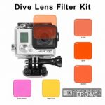 Colorful Switchable Diving Lens Filter kit For Gopro Hero 3 Plus 4 Sport Camera
