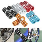 2PCs Bicycle Pedals Axle Foot Pegs For BMX Bike Bicycle Cycling Aluminum Alloy Multi Colors