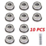 10pcs F693ZZ 3mmx8mmx4mm Double Shielded Flanged Ball Bearings