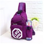Women Nylon Light Chest Bags Casual Shoulder Bags Outdoor Sports Crossbody Bags