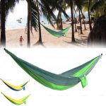 Outdoor Double Person Hammock Swing Bed Portable Parachute Hammock Travel Camping 270cmX140cm
