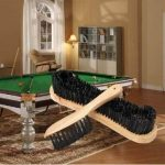 2PCS Wooden Cleaning Rail Felt Brush For Cue Sport Billiards Snooker Table