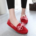 Round Toe Casual Women Outdoor Soft Slip On Suede Flat Loafers Shoes