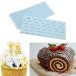 2pcs Tree Bark Wall Metope Silicone Cake Fondant Mold Candy Cookie Baking Tool