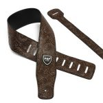 Adjustable PU Leather Thick Embossed Strap for Electric Acoustic Guitar Bass