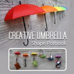 Honana 3PCS Creative Umbrella Shape Home Decoration Hook Paste Storage Pothook Novelty Wall Decor