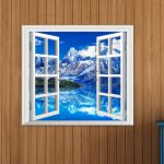 Iceberg View 3D Artificial Window View 3D Wall Decals Room PAG Stickers Home Wall Decor Gift