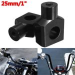 Handlebar Risers Clamp 1inch 25mm with Bolt For Harley Motorcycle