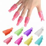 10pcs UV Gel Polish Remover Clips Caps Nail Cleaner Manicure Tools
