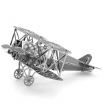 Aipin DIY 3D Puzzle Stainless Steel Model Kit Fokker Wings Fighter Silver Color