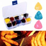 100pcs Acoustic Electric Guitar Picks Plectrum with Pick Box
