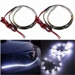 2PC White 12 Inch 15 LED Side Shine DRL Headlights Strips