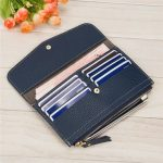 Women Men Durable PU Leather 5.5 Inches Phone Wallet Clutches 8 Card Holder