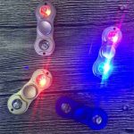 Led Light Hand Spinner Fingertip With Marquee Spiral Rotation Children Adult Fidget Funny Focus Toy