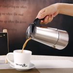 4 Cup 200ml Stainless Steel Moka Espresso Latte Percolator Stove Top Coffee Maker Pot