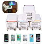 Universal EU Plug Dual USB 2.1A Wall Charger Adapter for Samsung