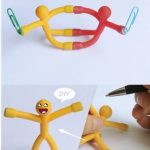 Novelty Curiously Awesome Gift Mini Q-Man Magnet Cute Rubber Magnets Man Toy