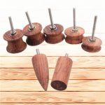 7pcs Leather Wood Electric Grinding Head Edge Polishing Kit Leather Burnisher