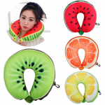 Fruit Cartoon Memory Foam Car Air Travel U Shaped Pillow Neck Rest Cushion