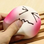 Super Slow Rising Squishy Soft Pinky Bread 5cm Phone Straps Random Expression