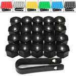 20pcs 17mm Wheel Nut Covers Bolt Caps Romoval Tool Key ABS Plastic for Audi