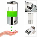 Wall Mounted Bathroom Lotion Shampoo Liquid Soap Dispenser