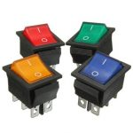 6 Pins Rocker Switch DPDT On-On Mini Momentary with LED