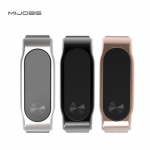 Mijobs Replacement Stainless Steel Frame Bracelet Wristband For Xiaomi Miband 2