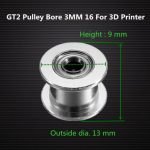 GT2 Pulley Bore 3MM 16 Without Teeth Idle Pulley Timing Gear For GT2 Belt Width 6MM For 3D Printer
