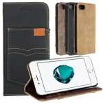 PU Leather Wallet Case With Kickstand Card Slots For Apple iPhone 7 Plus 5.5 Inch