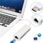 Type C To RJ45 Ethernet Lan Network Port USB 3.1 Adapter For Apple New Macbook