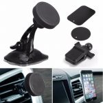 3 In 1 360 Suction Magnetic Car Air Vent Windshield Mount Stand Holder For iPhone Samsung Xiaomi