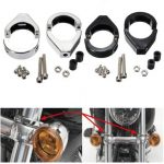 41mm Turn Signal Mount Bracket Fork Tube Relocation Clamps Indicator For Harley