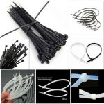 100pcs Nylon Plastic Zip Trim Wrap Cable Loop Ties Wire Self Lock