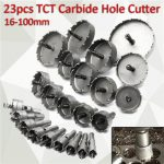 23pc 16-100mm Hole Saw Cutter Drill Bit Set Carbide Tip Drill Bit TCT Metal Wood Cutter