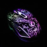 Estone X5 USB Wired 800/1200/1600/2400 DPI Gaming Mouse with LED Breathing Light