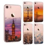 Ultra Slim Soft Translucent Landscape Scenery Painting Silicon Case Back Cover For iPhone 7