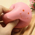 Squishy Soft Toys Smiling Bread Cell Phone Bag Strap Pendant