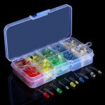 Geekcreit 375Pcs 3MM 5MM LED Light-emitting Diode Beads Resistance Lights Kits Bulb Lamp