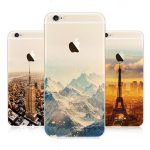 Ultra Slim Soft Translucent Landscape Scenery Painting TPU Case Back Cover For iPhone 6/6s Plus 5.5""