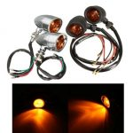Pair Bullet Turn Signals Light for Harley Cruiser Chopper Honda Suzuki Kawasaki Yamaha