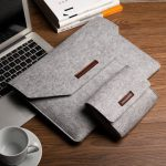 Soft Wool Felt Sleeve Bag Case Anti-scratch Cover Handbag For MacBook Air Pro Retina 11~15 Inch