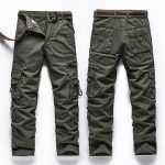 Mens Casual Outdoor Cargo Pants Military Multi-pocket Cotton Long Pants