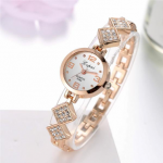 LVPAI P124 Fashion Ladies Quartz Watch Rhinestones Rhombus Strap Women Bracelet Wristwatch