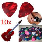 10pcs Acoustic Electric Bass Celluloid Guitar Picks Plectrums 0.46mm