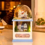 Hoomeda MC001 Northern Europe DIY Dollhouse Kit With LED Light Music Wooden Decor Collection