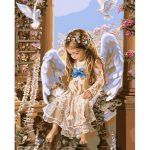 40X50CM Frameless Angel Canvas Linen Canvas Oil Painting DIY Paint By Numbers