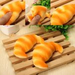 2PCS 10CM Squishy Simulation Bread Croissant Slow Rising Squishy Fun Toys Decoration