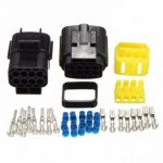 Car 8 Pin Water Resistance Waterproof Electrical Wire Cable Connector Plug Set